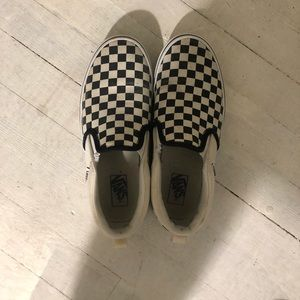 Black and white checkered vans